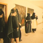 La procesión desde atrás