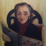Marita leyendo Rosita golosa, 1986