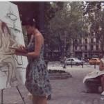 "Proceso de pintura de ""A ti te encontré en la calle"""